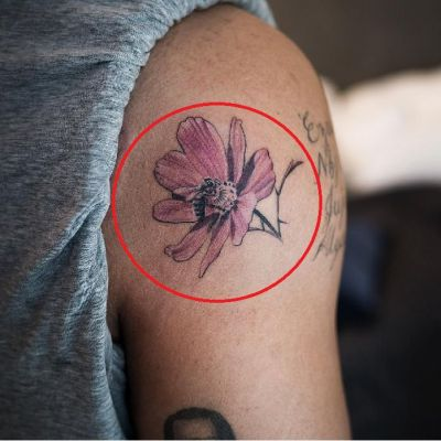 'Flower and a Bee' Tattoo