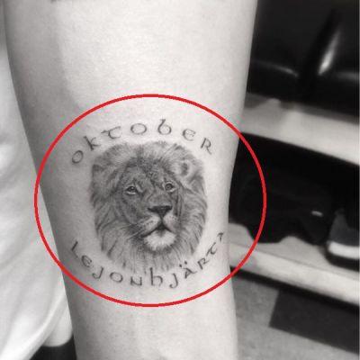 'Oktober Lejonhjarta' Tattoo
